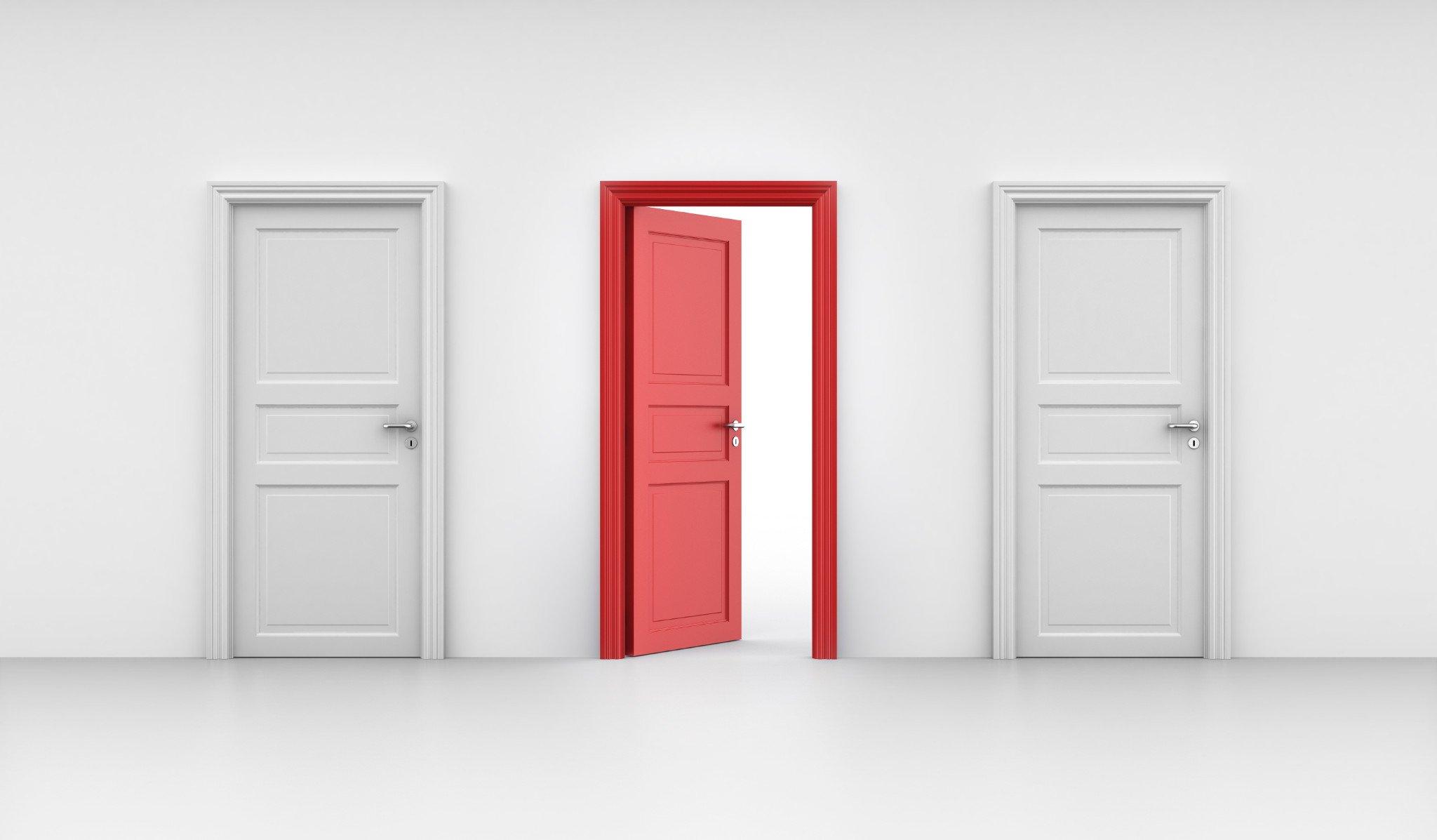 three-doors-one-red