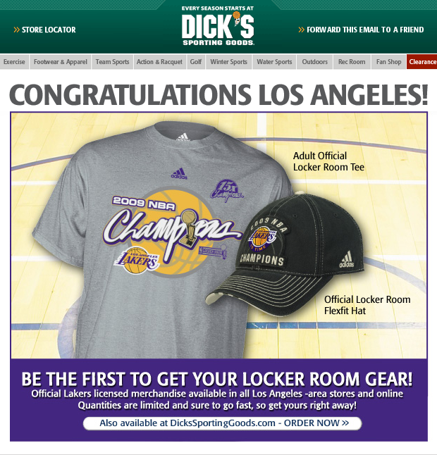 DICK'S Sporting Goods Email