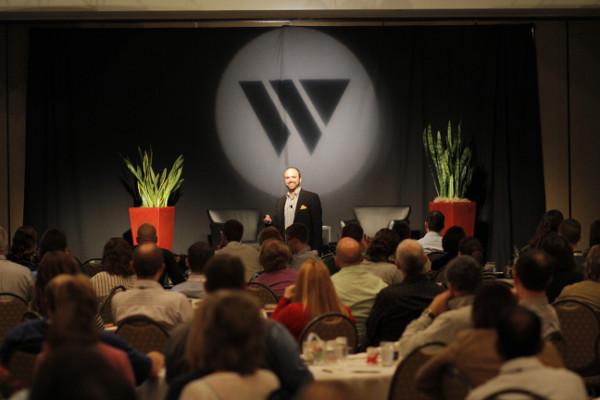 Joe Pulizzi keynote speaking at Widen Enterprises User Summit, 2014.