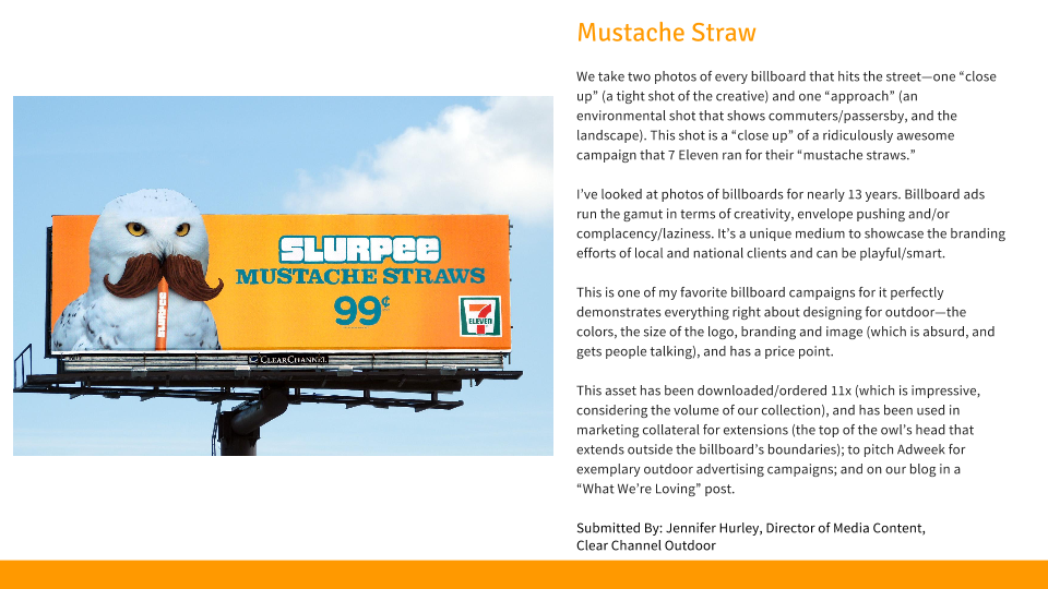 mustache straw from Clear Channel Outdoor