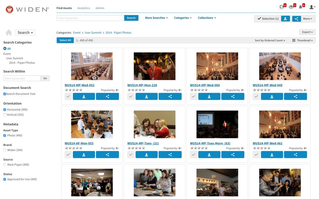 Widen Media Collective Digital Asset Management Solution
