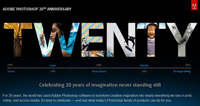 Adobe Photoshop 20th Anniversary