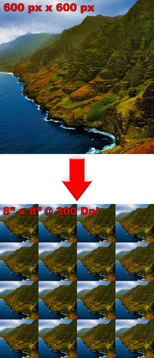 Example of Original > Final Sharpening Grid