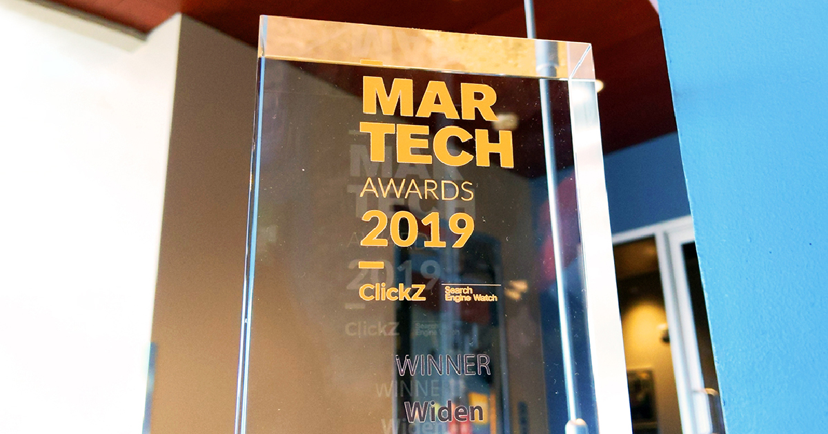 "Widen Wins ""Best Digital Asset Management Platform (DAM)"" at ClickZ Marketing Technology Awards"