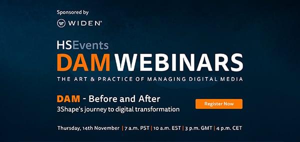 Hear 3Shape's DAM transformation story in our November 14th webinar.