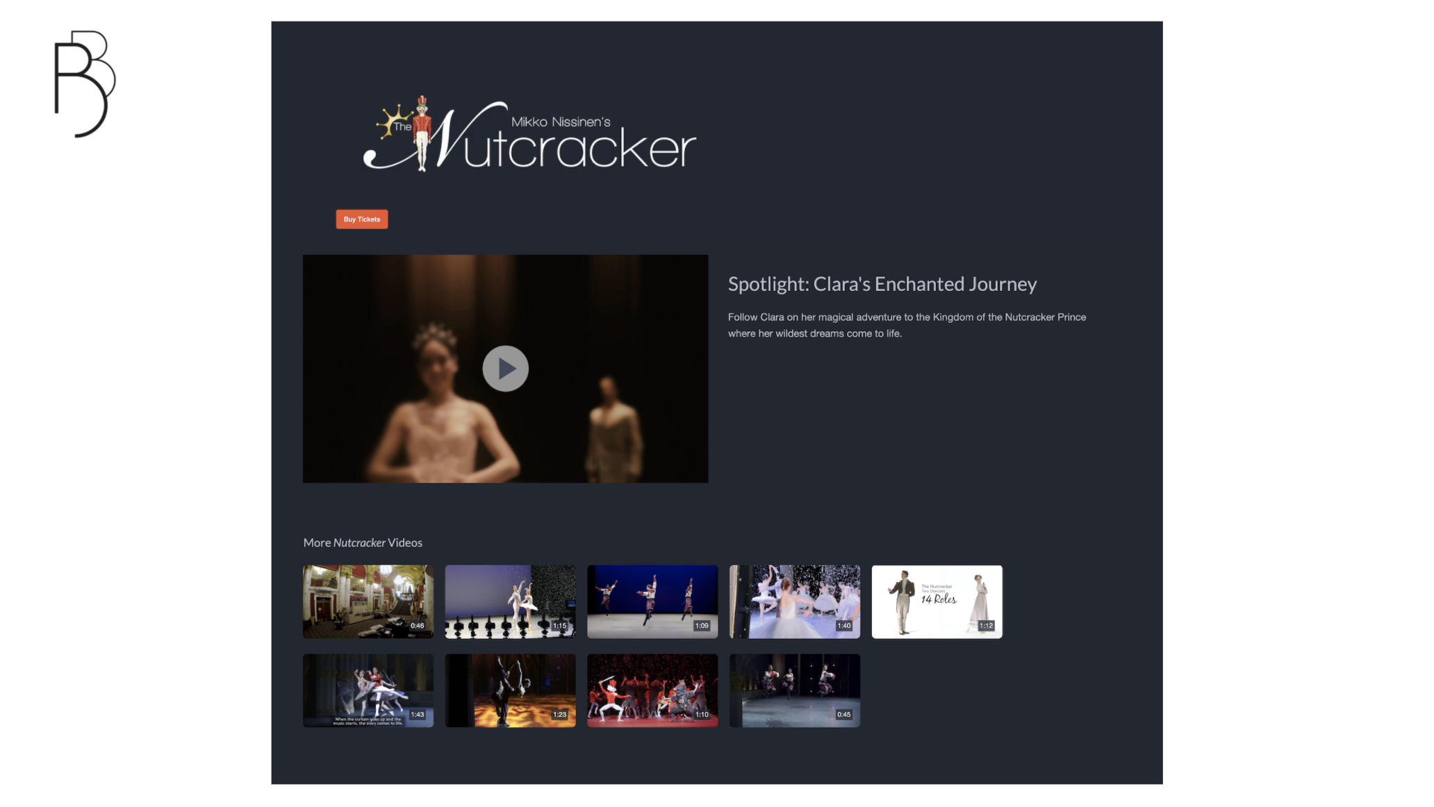 A look at Boston Ballet's Nutcracker video portal.