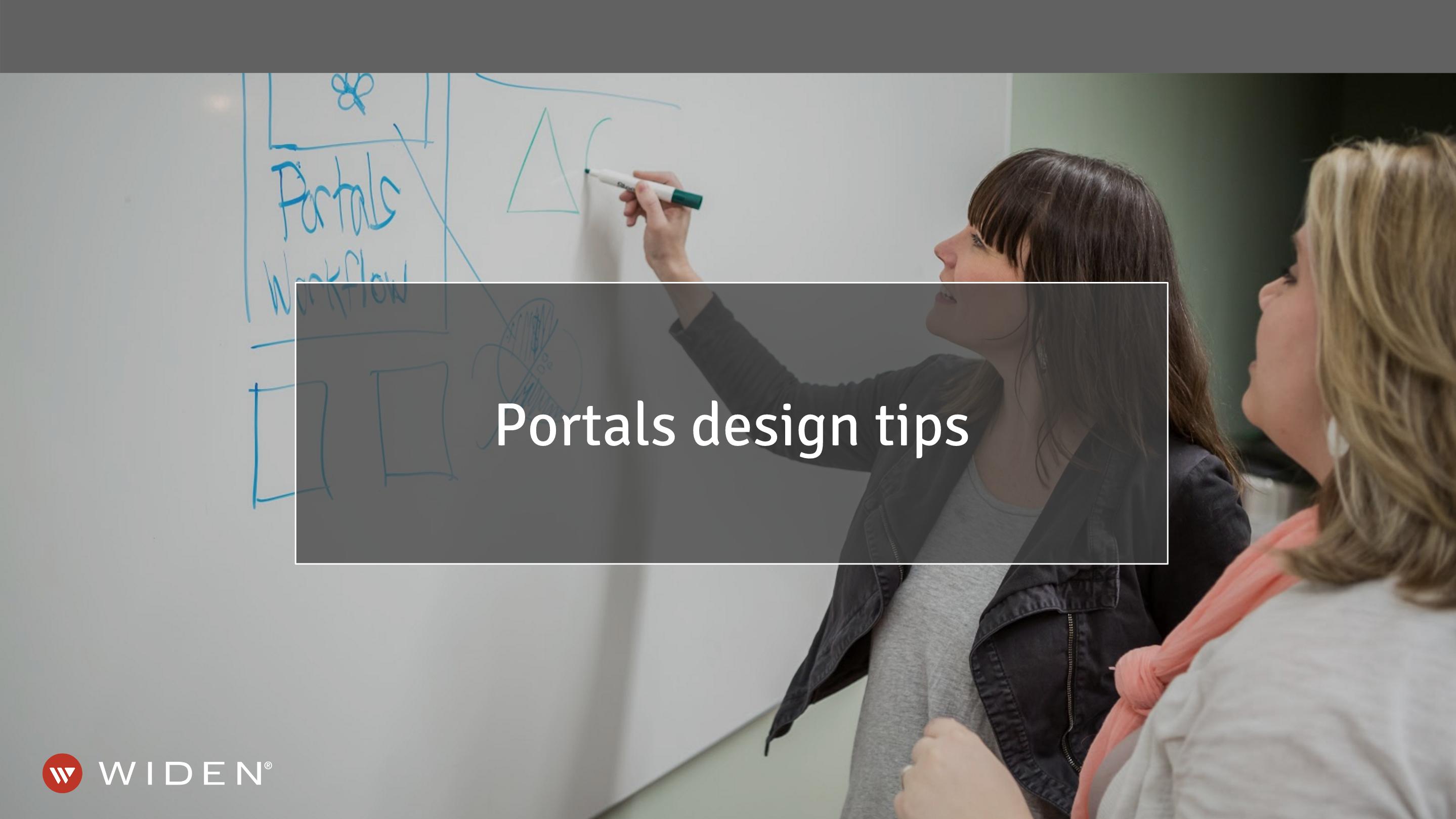 Brand Content Portals Design Tips