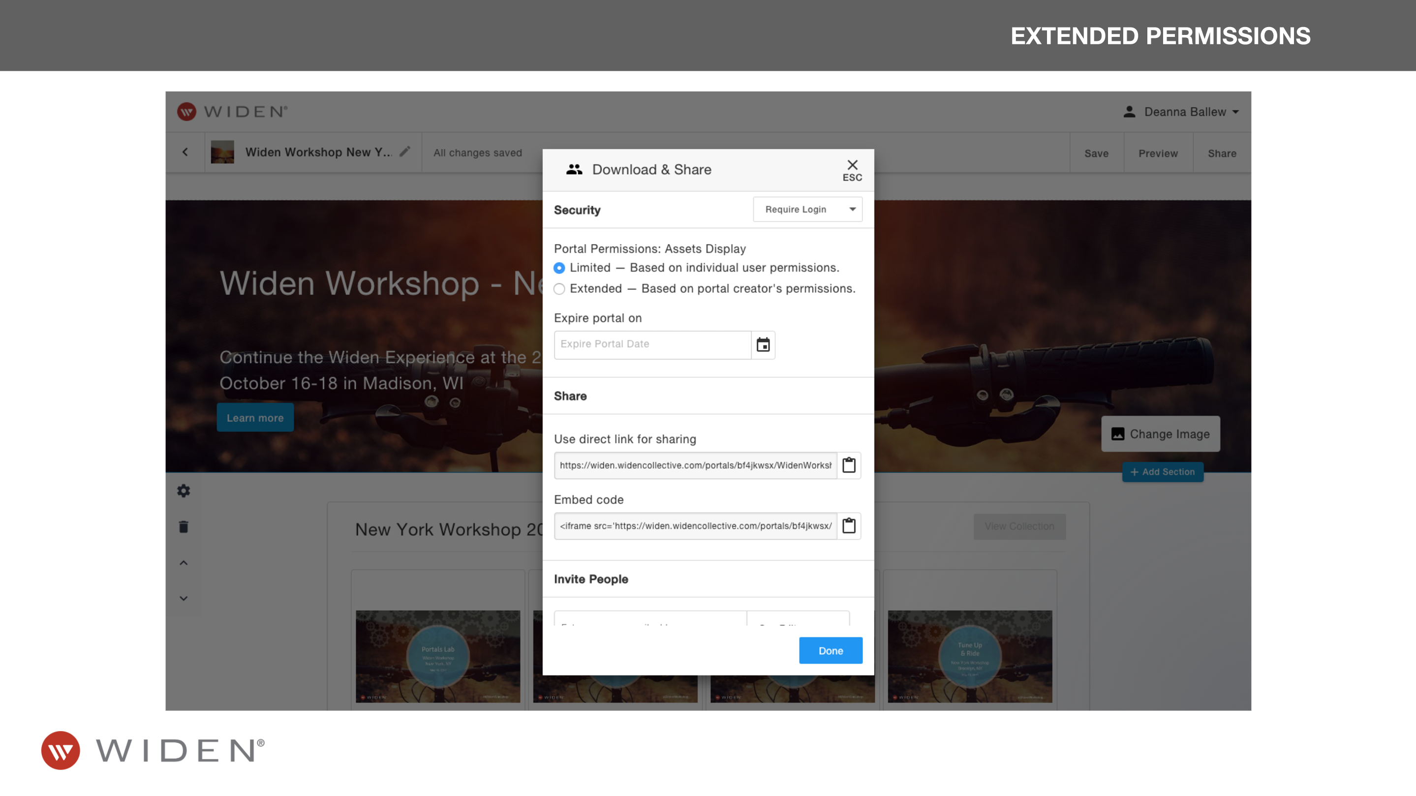 Collections Management Brand Portal Permissions
