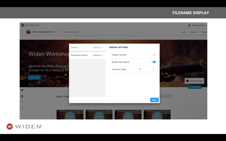 Collections Management Brand Portals & Filenames
