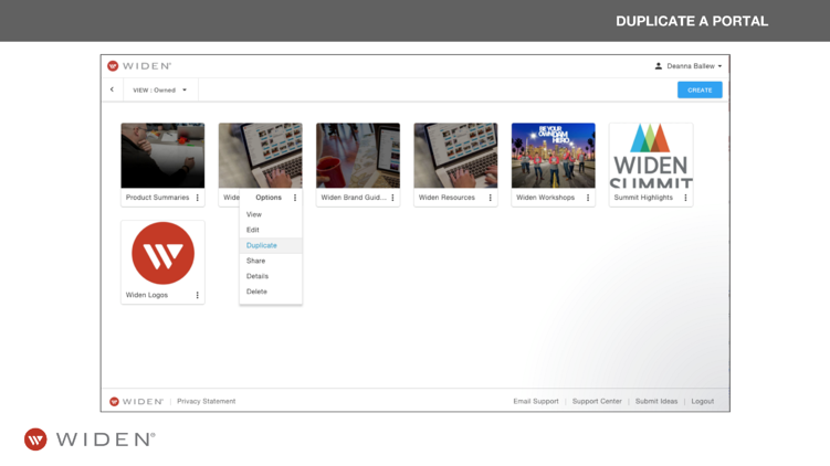 Collections Management Duplicate a Brand Portal