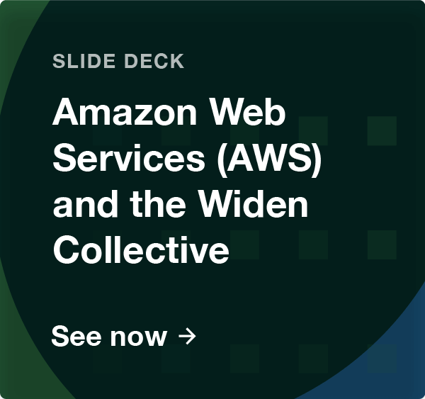 Amazon Web Services AWS and the Widen Collective slide deck