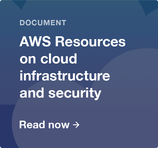 AWS resources on cloud infrastructure and security document