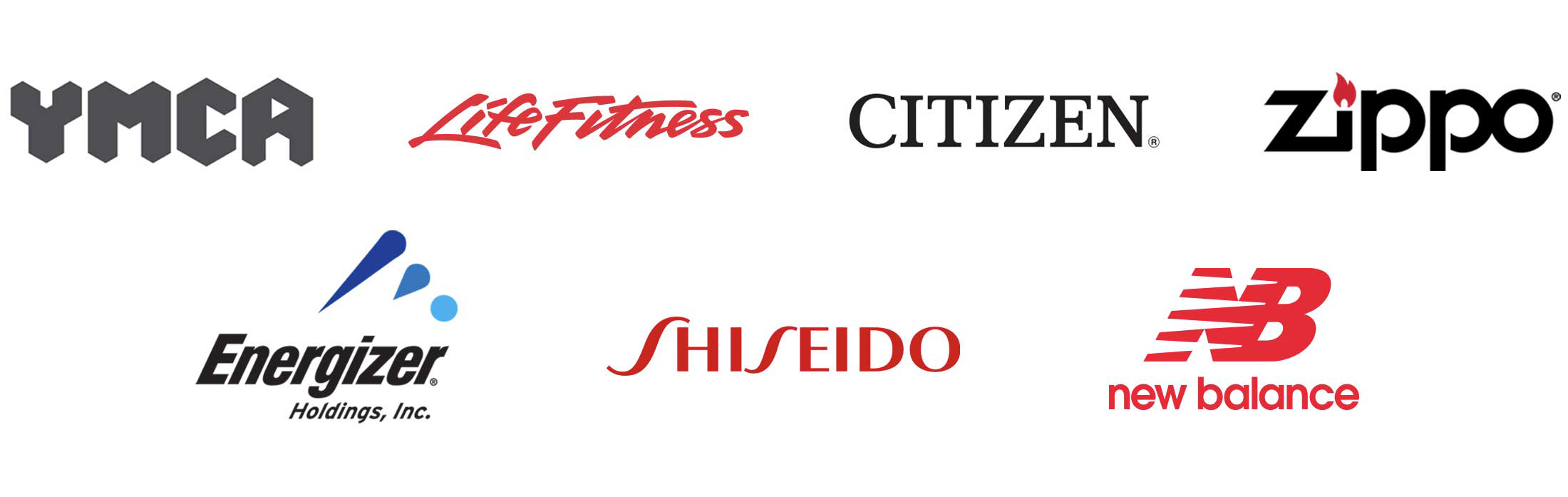 Widen Customers YMCA, LifeFitness, Citizen, Zippo, Energizer Holdings Inc, Shiseido, and New Balance