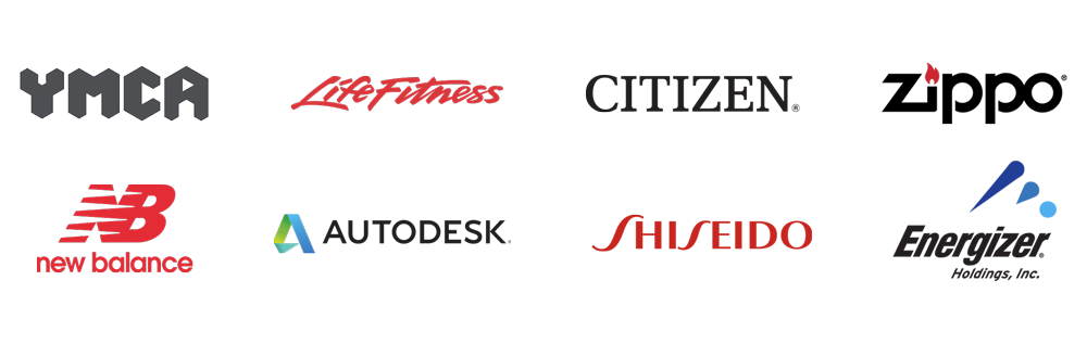 YMCA-LifeFitness-CITIZEN-Zippo-New-Balance-Autodesk-Shiseido-Energizer-Customer-Brands