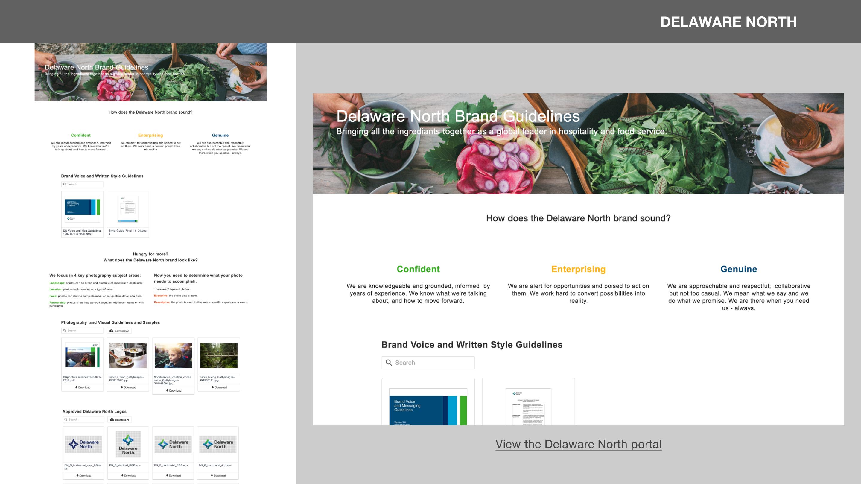 Delaware North Brand Portals & Content Curation