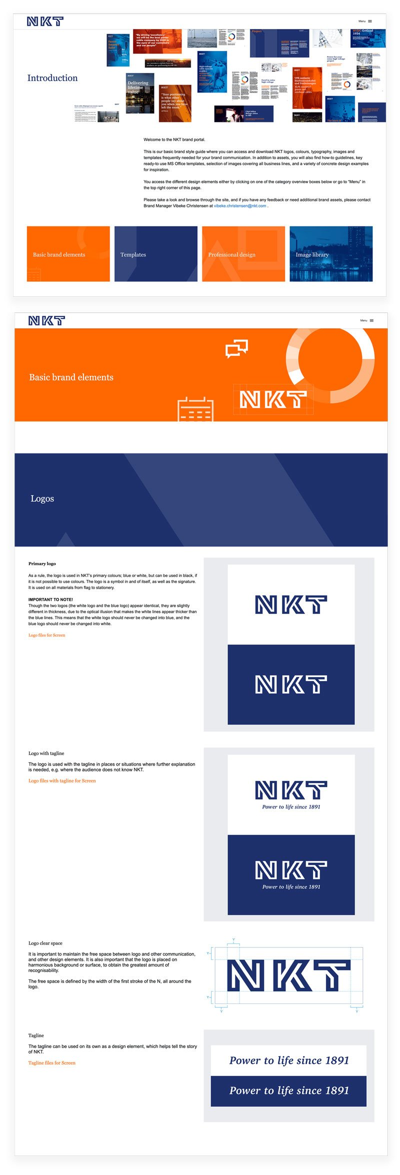 NKT Mini Brand Portal Visuals