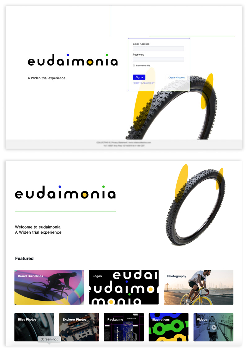 eudaimonia login and dashboard