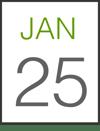 Jan 25 Date Card