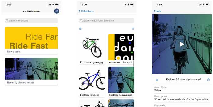 Widen Collective mobile app screen shot