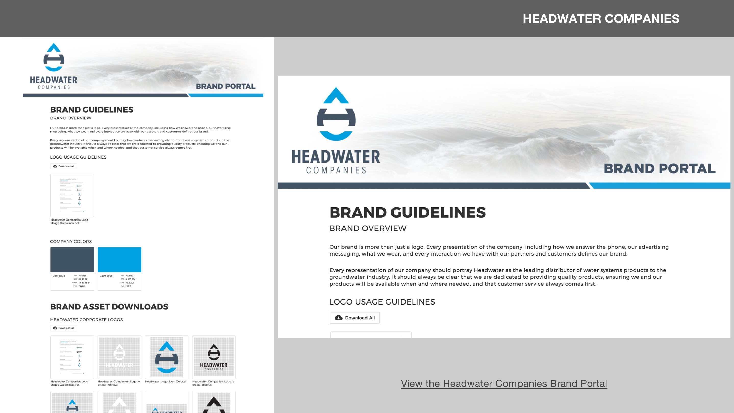 Headwater Companies Brand Portal