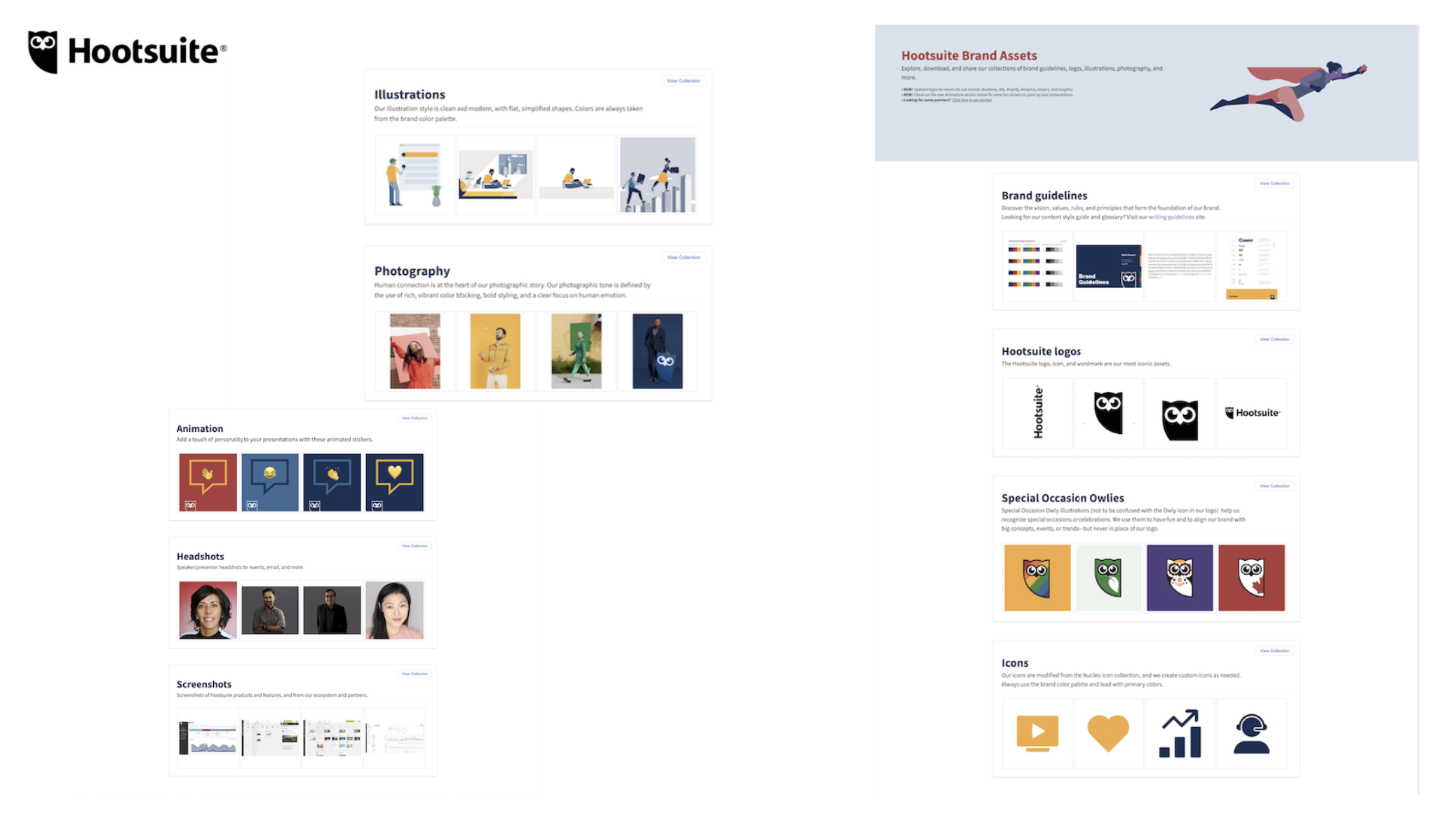 A look at Hootsuite's brand assets portal.