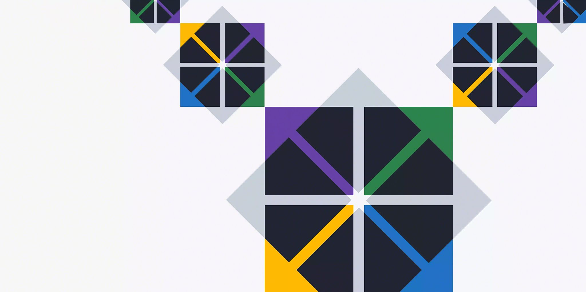 """Article header image: Five squares with solid-colored arrows pointing to each corner. The boxes form a """"V"""" with the ones on the end being the smallest and the middle point the largest."""