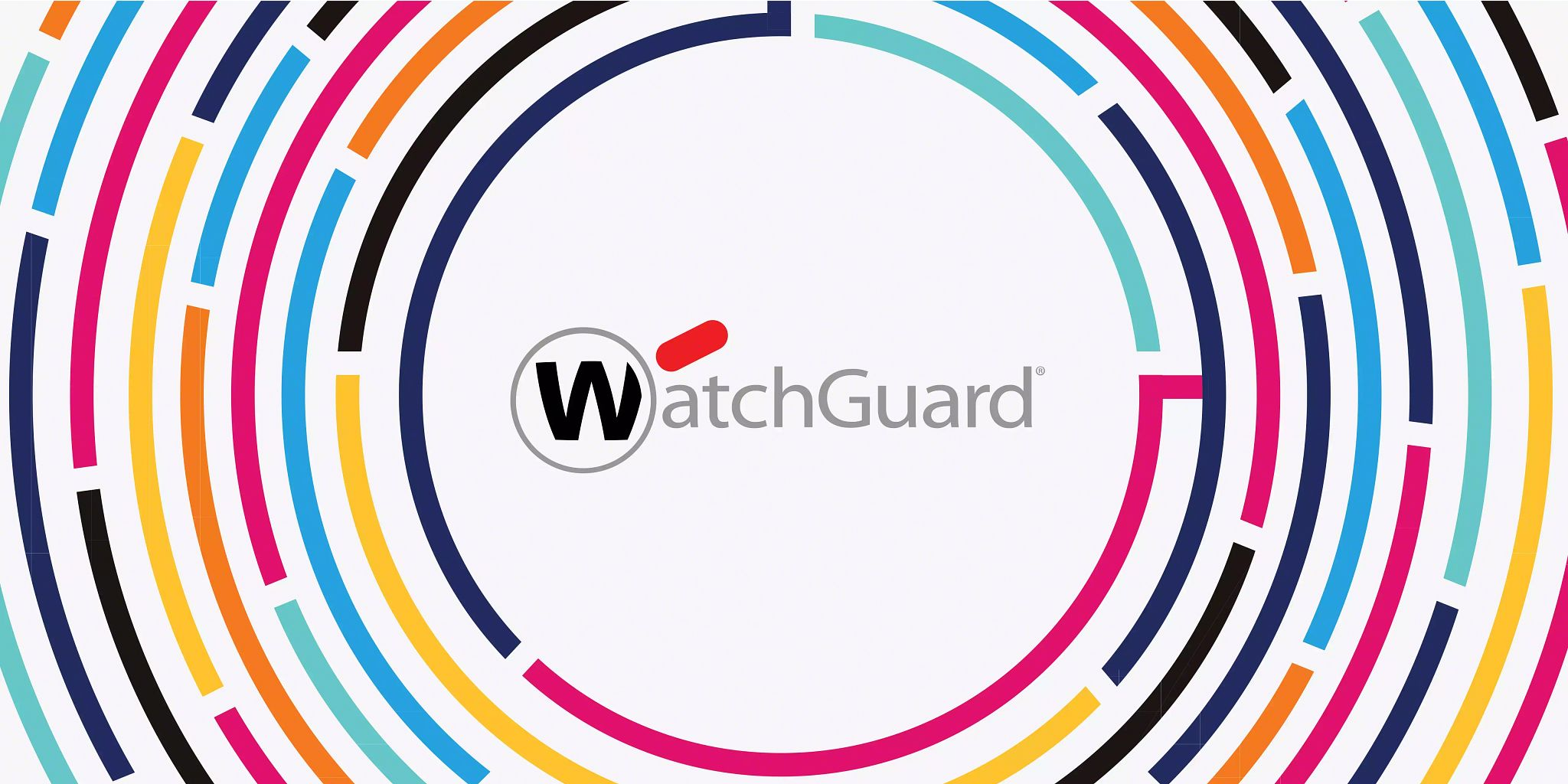 Blog header graphic: WatchGuard logo encircled by solid-colored lines expanding to the edge of the graphic.