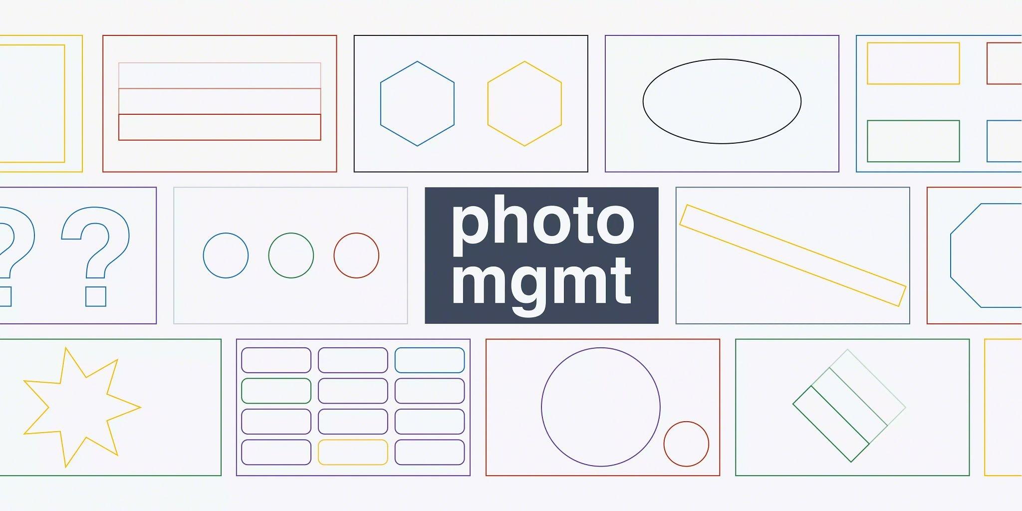 Blog header graphic: Photo management software