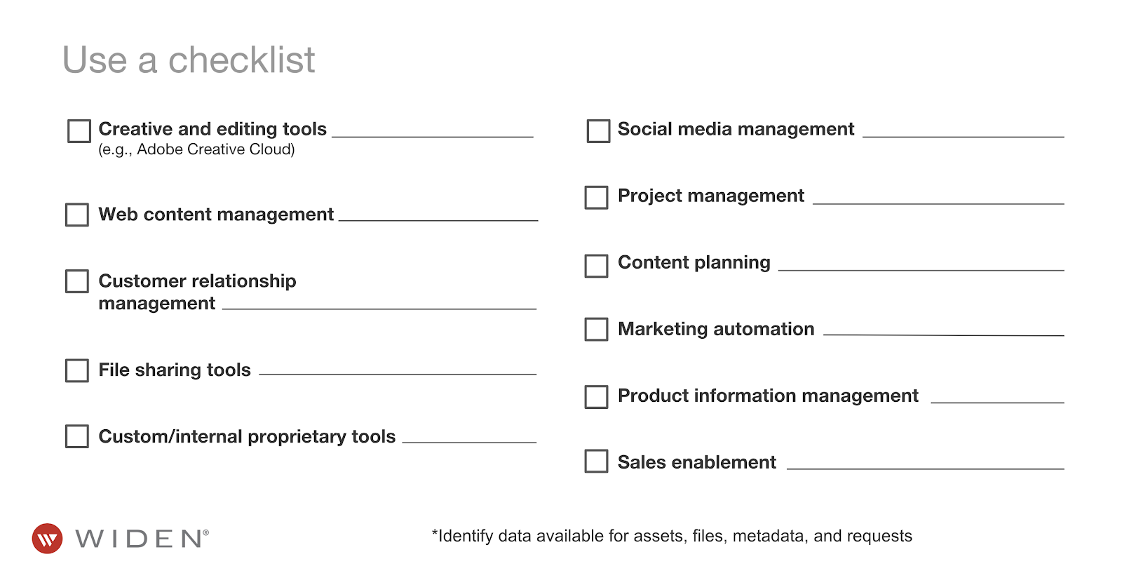 Marketing Technology Checklist
