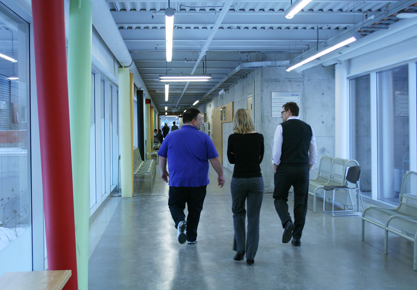 Sheridan _group walk in hall