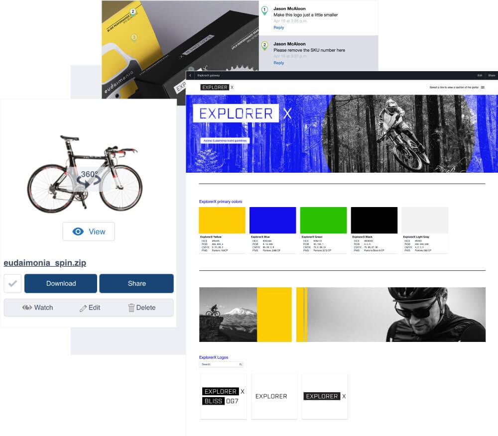 Marketing resource management software screen captures