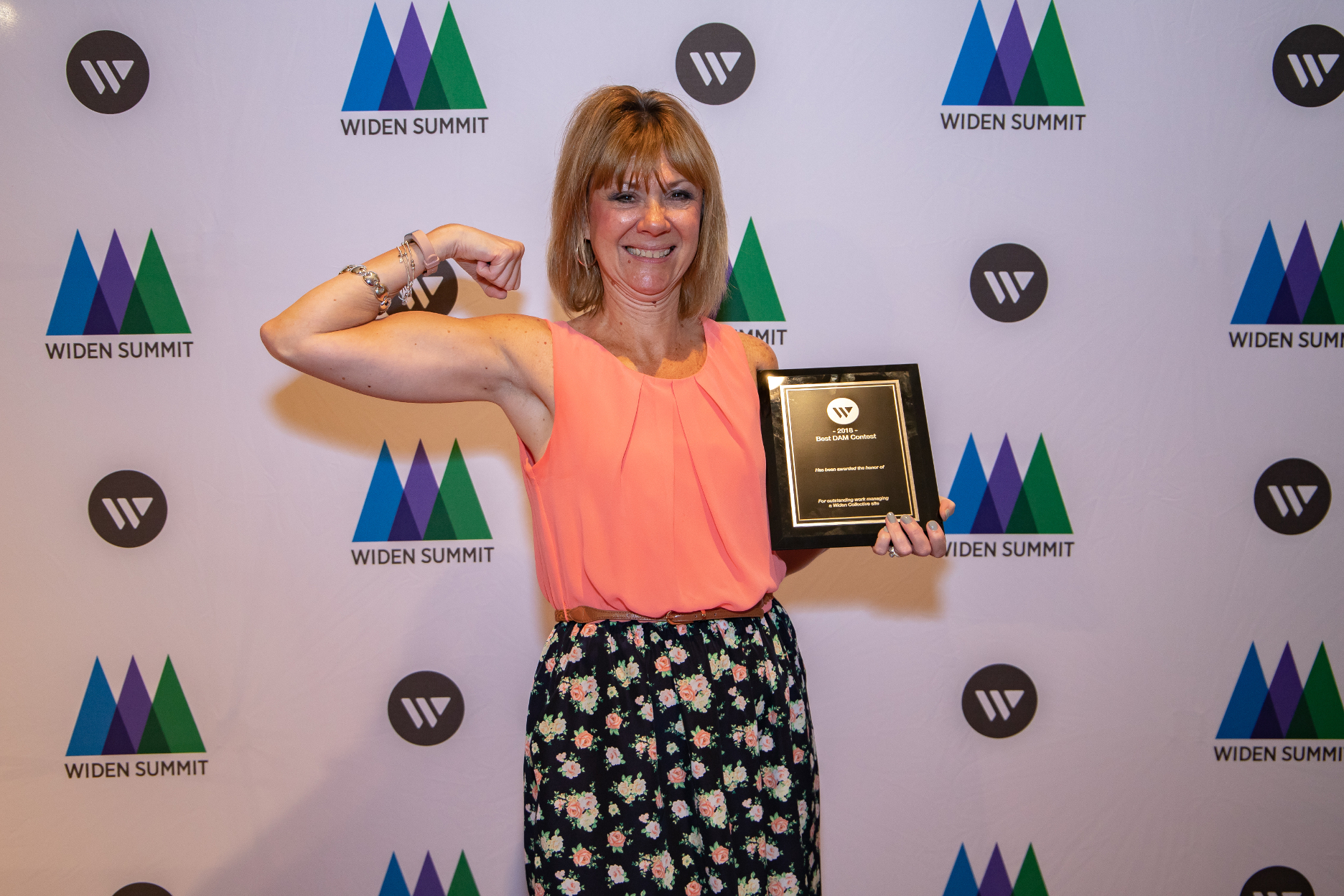 Barb shows off her Best DAM award.