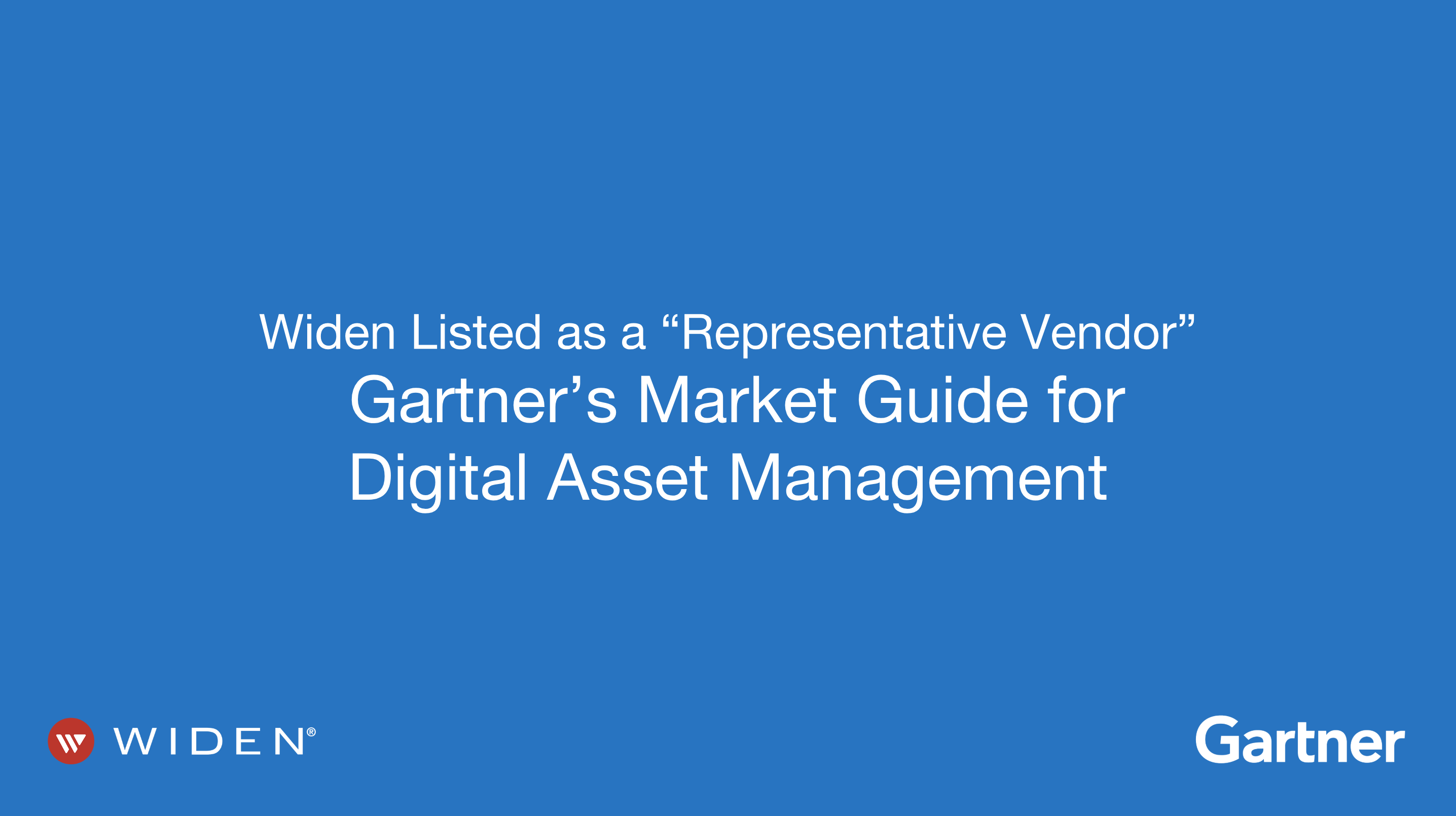 Widen Listed as a Representative Vendor