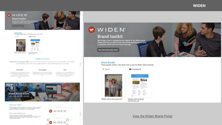 Widen Content Curation & Brand Portals