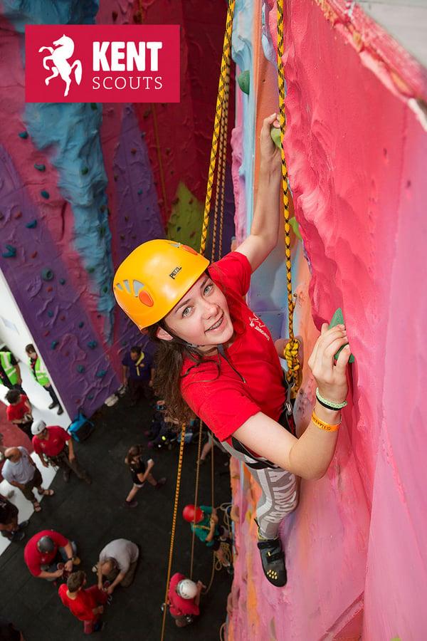 Kent Scouts Female Climber Participant