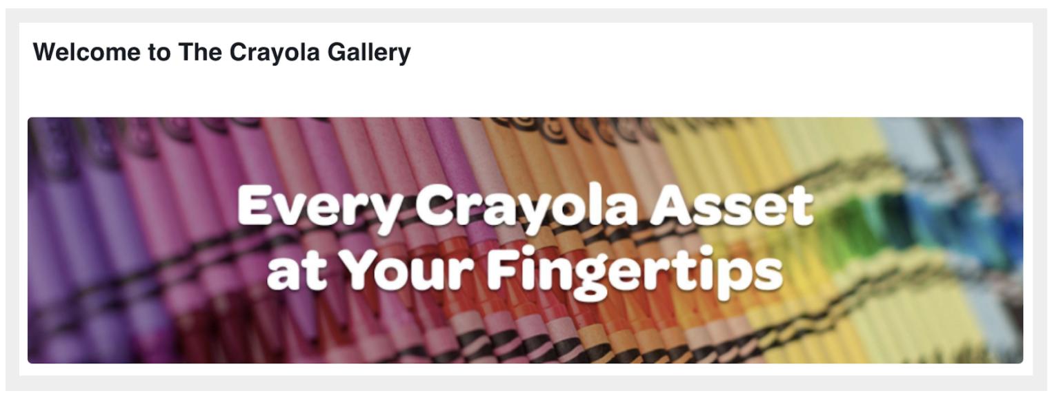 "Crayola's Widen Collective site, ""The Crayola Gallery."""