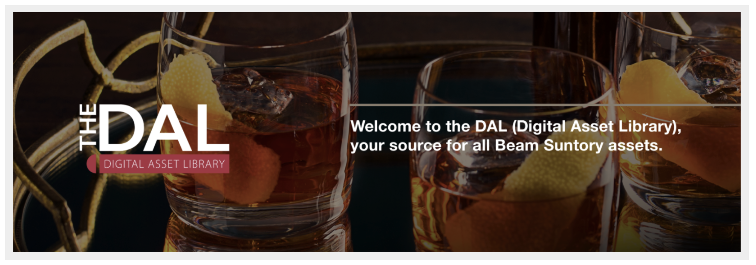 """Beam Suntory's Widen Collective site, """"The DAL."""""""