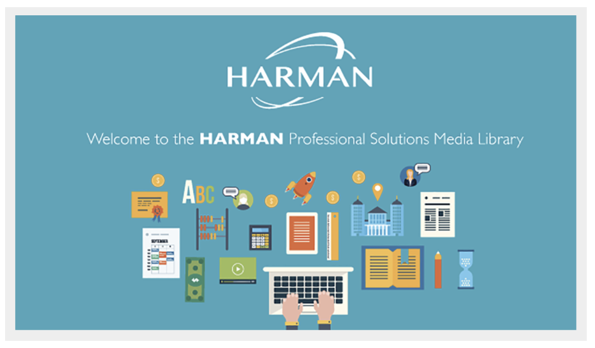"""HARMAN's Widen Collective site, """"The HARMAN Media Library."""""""