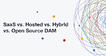 Blog image: SaaS vs. Hosted vs. Hybrid vs. Open Source DAM: Which Is Right for You?