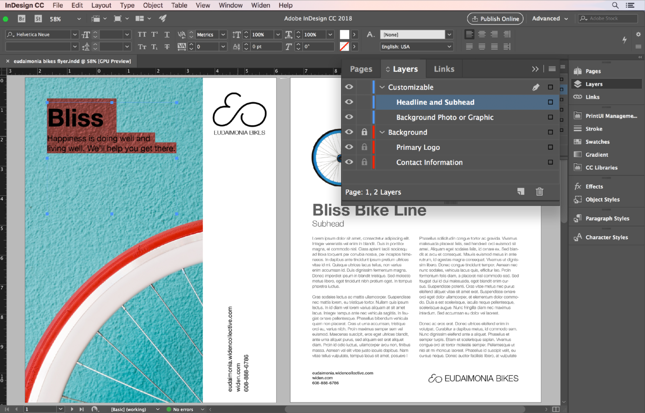 A look at creating a layout for Widen Templates in Adobe InDesign.