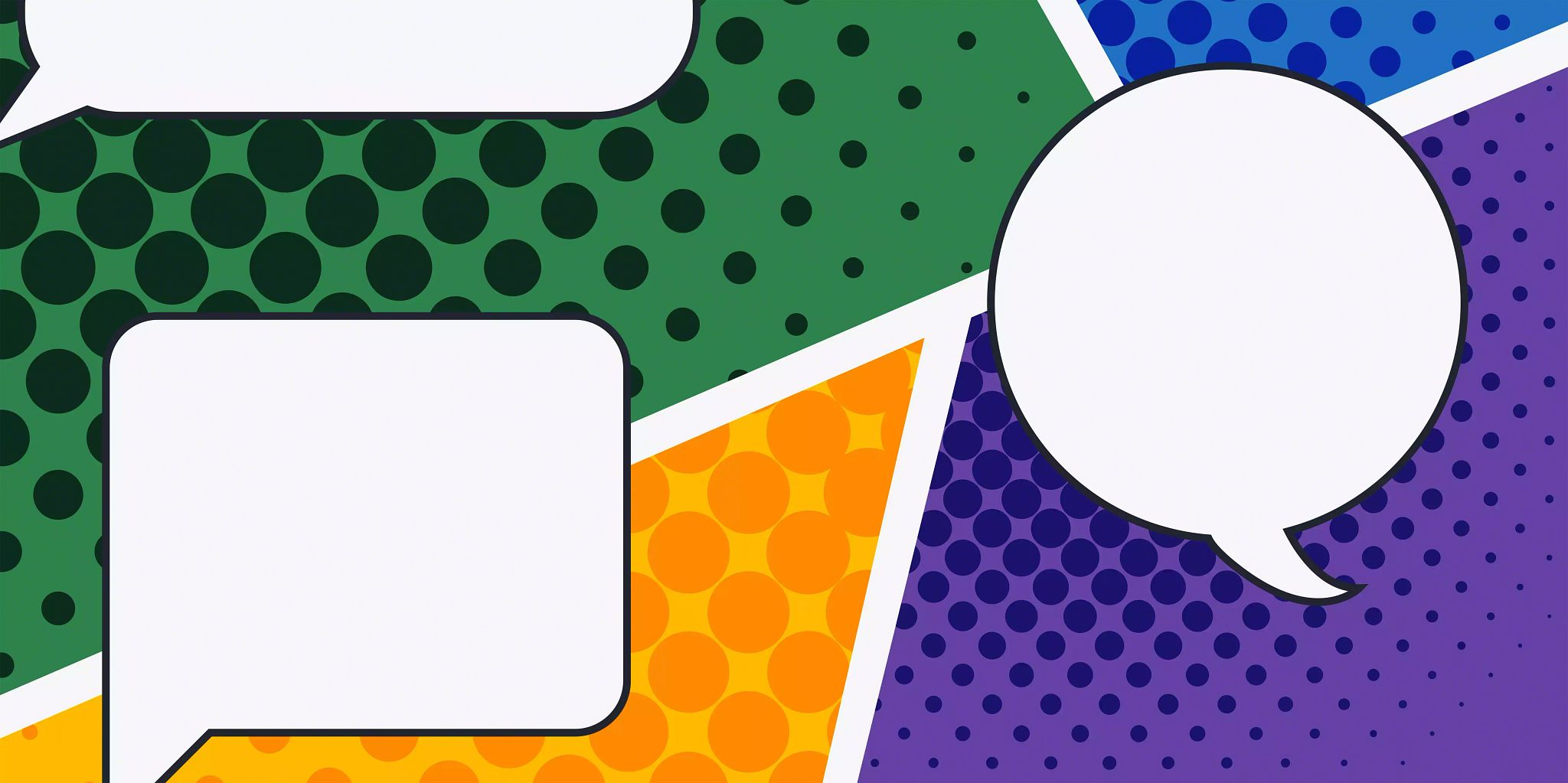 Article header image: Three differently shaped quote bubbles on a colorful background.