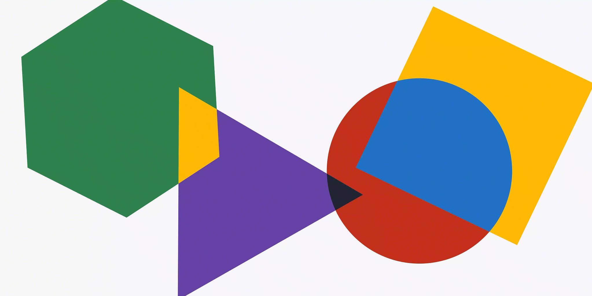 What is product branding? —Article header image shows a green hexagon, purple triangle, red circle, and a yellow square overlapping across the length and width of the graphic. Where they overlap the colors mix to form yellow (from green and purple) and blue (from yellow and red).