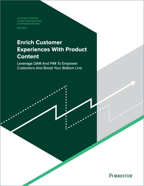 Enrich Customer Experiences With Product Content, A Forrester Consulting thought leadership paper commissioned by Widen