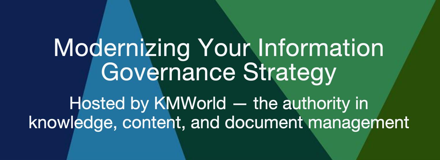 Information Governance Webinar