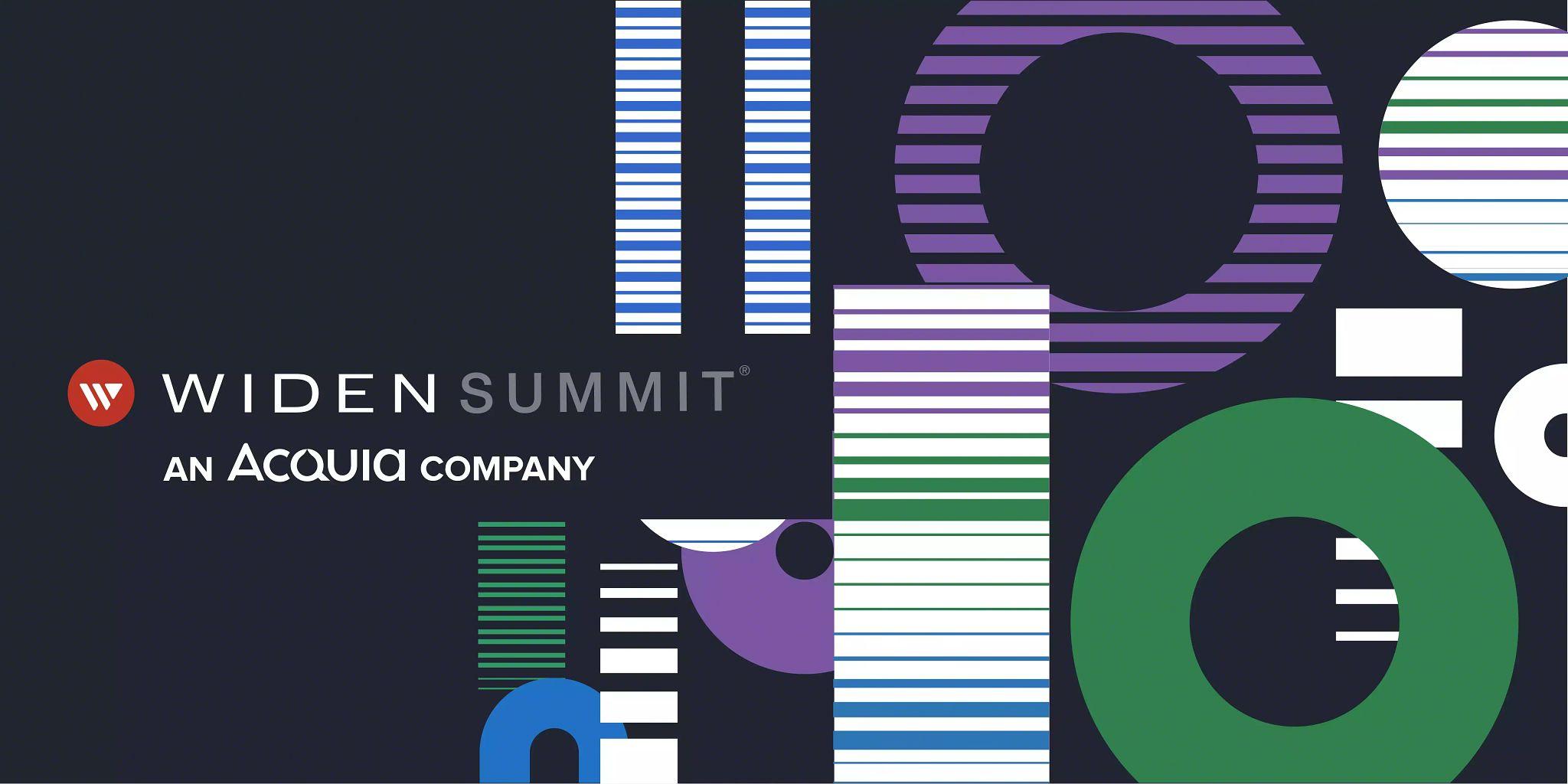 Blog header graphic: 2021 Widen Summit recap blog article.