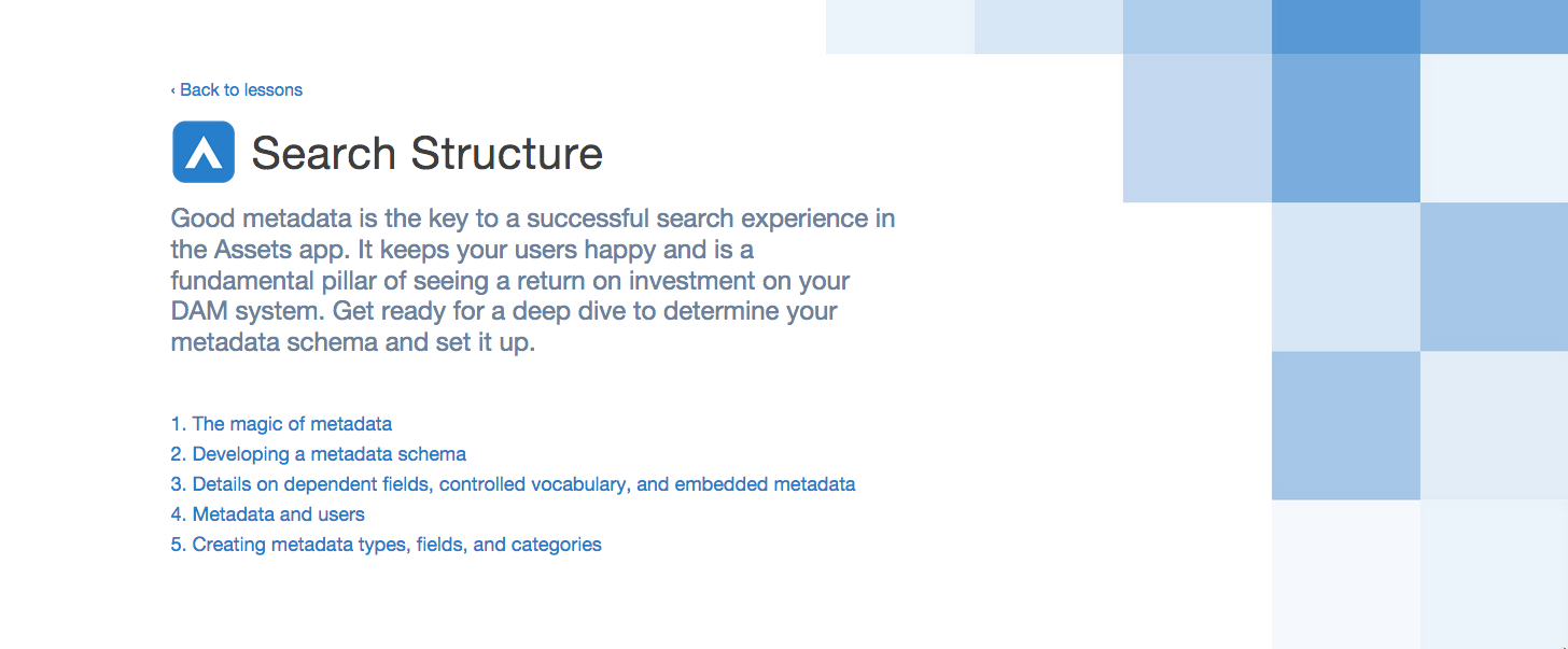 Search Structure - Assets | Widen University