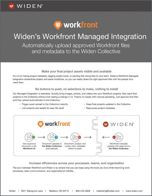 Widens Workfront Connector